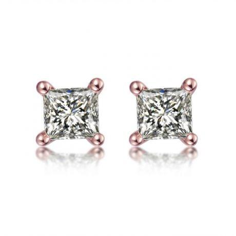 Orecchini Punto Luce Camélia - Oro Rosa & Diamanti Princess