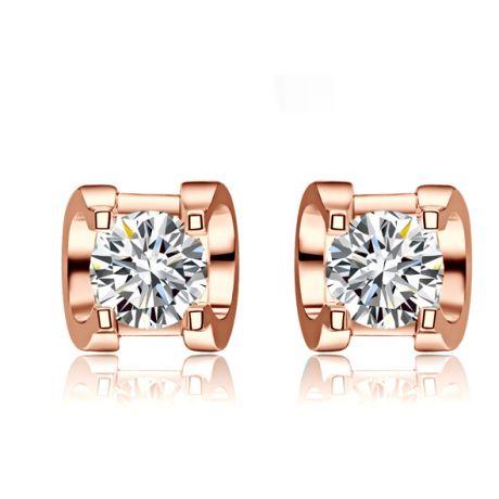 Orecchini Punto Luce. Oro Rosa e Diamanti