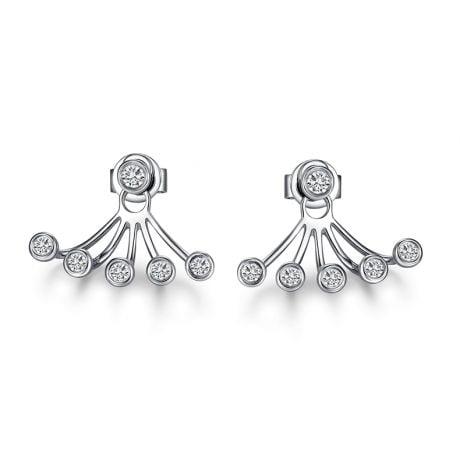 Orecchini Augusta - Pendenti da Donna in Oro Bianco & Diamanti