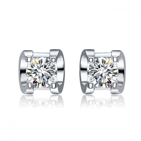 Orecchini Pasha - Punto Luce da Donna in Oro Bianco con Diamanti