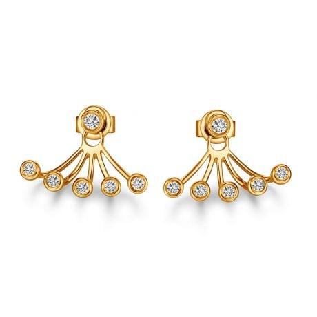 Orecchini Augusta - Pendenti da Donna in Oro Giallo & Diamanti