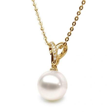 Ciondolo Jardin Secret - Oro Giallo, Diamanti e Perla d'Acqua Dolce