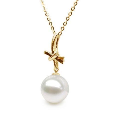 Ciondolo Noeud Mystérieux - Oro Giallo 18kt e Perla d'Acqua Dolce