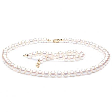 Parure Perle Bianche Sposiamoci - Collana e Braccialetto - Oro Giallo | Gemperles