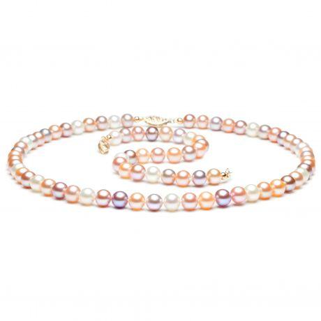 Parure Perle Miste Capucine - Collana e Braccialetto 6.5/7mm - Oro Giallo