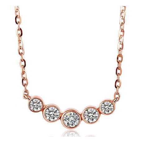 Collana Ciondolo Quintessenza - Oro Rosa & Diamanti 0.26ct | Gemperles