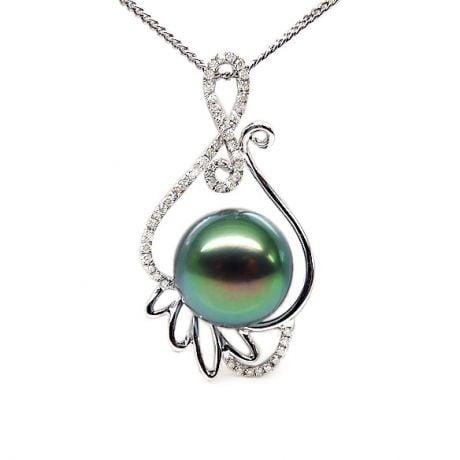 Pendentif musique classique - Renaissance - Perle de Tahiti - Or blanc