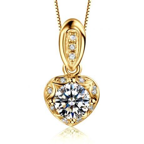 Ciondolo con Diamanti in Oro giallo 18 carati. Your Best Friend