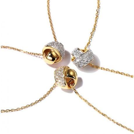 Ciondolo C'era Una Volta... Noi - Fiocco in Oro Giallo 18 Carati e Diamanti | Gemperles