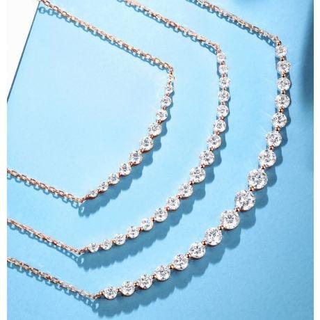 Pendentif Sourire en Or Rose et Diamants I Gemperles