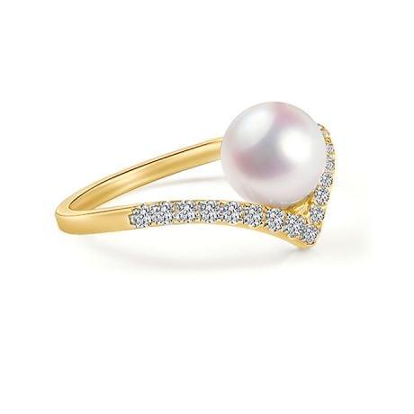 Anello Réflexion - Oro Giallo, Diamanti & Perla Akoya