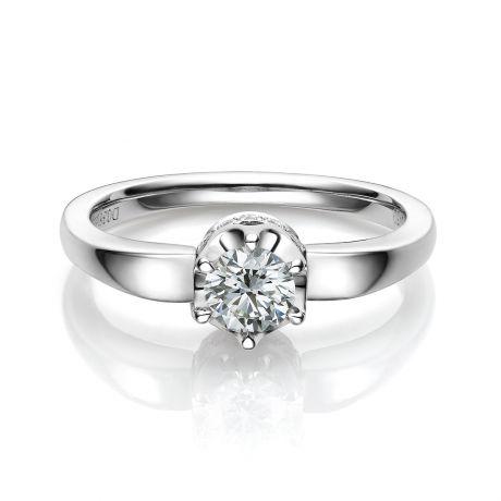 Anello di Fidanzamento Agartha - Oro Bianco & Diamanti | Gemperles