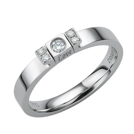 Solitario Ciondolo Love Passion - Oro Bianco & Diamanti | Gemperles