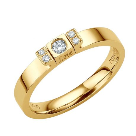 Solitario Ciondolo Love Passion - Oro Giallo & Diamanti | Gemperles