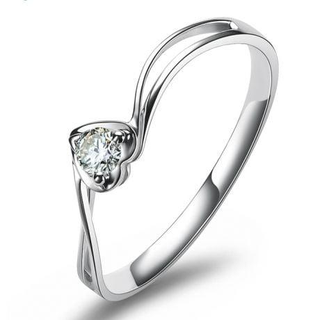 Anello di Fidanzamento Cuore Mio - Platino & Diamante Solitario | Gemperles
