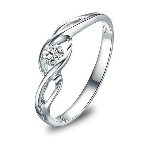 Anello di Fidanzamento Taylor - Oro Bianco & Diamante Solitario | Gemperles
