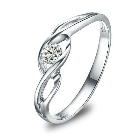 Anello di Fidanzamento Taylor - Platino & Diamante Solitario | Gemperles