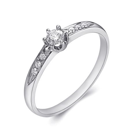 Alliance Solitaire Accompagné Diamants. Platine | Gemperles