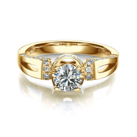 Anello di Fidanzamento Composto Darling - Oro Giallo & Diamanti | Gemperles