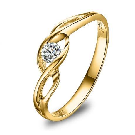 Anello di Fidanzamento Taylor - Oro Giallo & Diamante Solitario | Gemperles