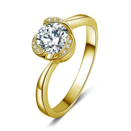 Anello di Fidanzamento Delicatezza - Oro Giallo 18kt & Diamanti | Gemperles