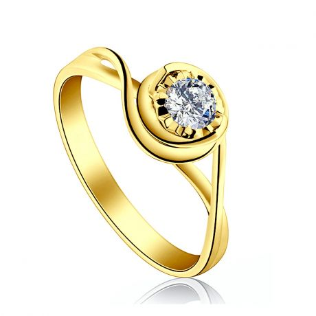Solitaire bague ensorcelée - Diamant 0.20 carat - Or jaune 750/1000 | Gemperles