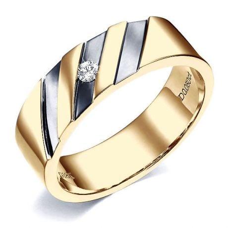 Anello per Uomo in Oro giallo 18kt & Diamante VS/G | Marcus