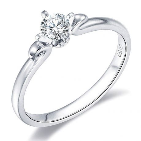 Anello di Fidanzamento Weston - Platino e Diamante Solitario | Gemperles