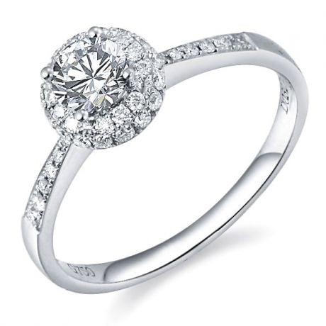 Anello di Fidanzamento Composto Ancolie - Platino & Diamanti | Gemperles