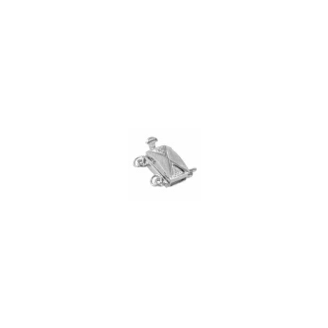 Chiusura 2 fili oro bianco 18kt - Pedrolino
