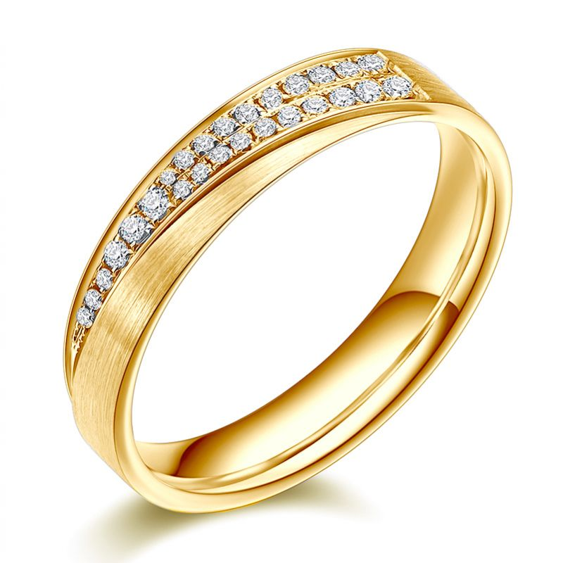 Alliance Sillage Amoureux Femme - Or Jaune, Diamants | Gemperles