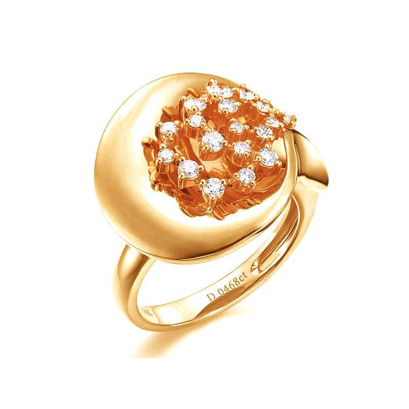 Création de bague - Joaillerie bague or jaune - 19 Diamants 0.468ct