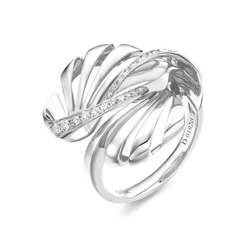 Bague femme. Or blanc & Diamants | Neptune
