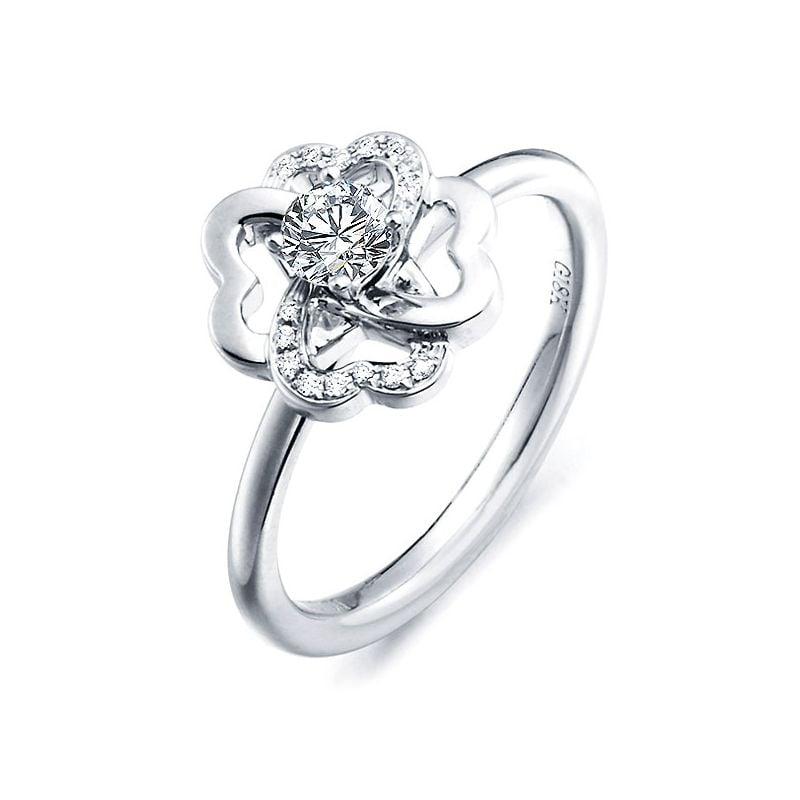 Bague Fleur de Stendhal - Bague de Mariage & Fiançaille - Or Blanc, Diamants | Gemperles