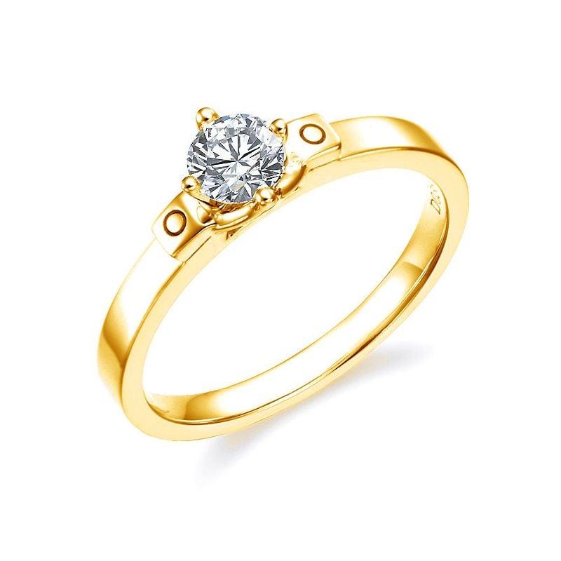Anello di Fidanzamento Curtis - Diamante Solitario & Oro Giallo | Gemperles
