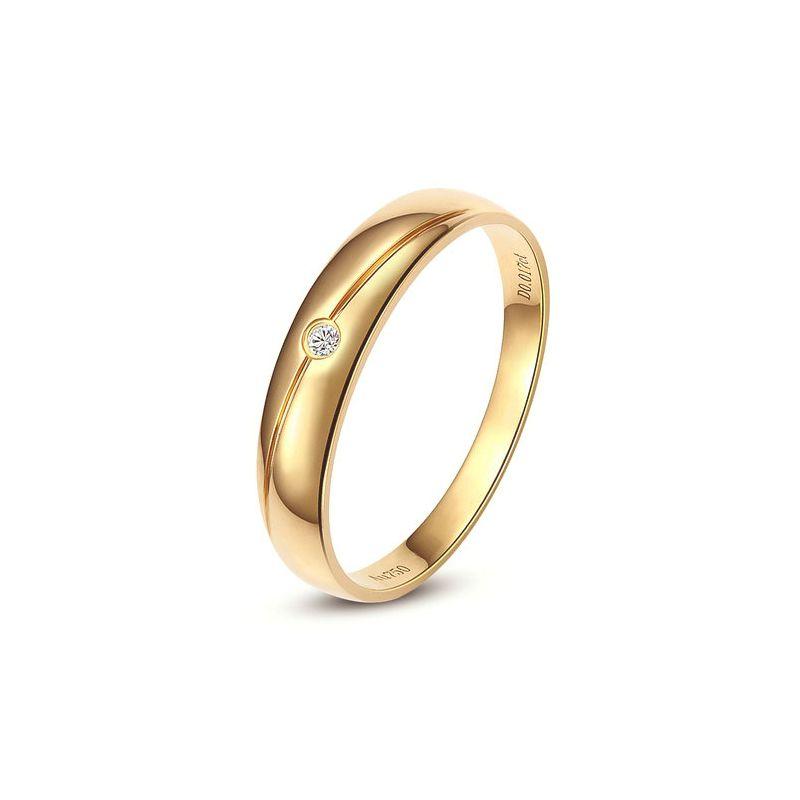 Alliance Homme. Or jaune. Diamant 0.017ct | Marteen