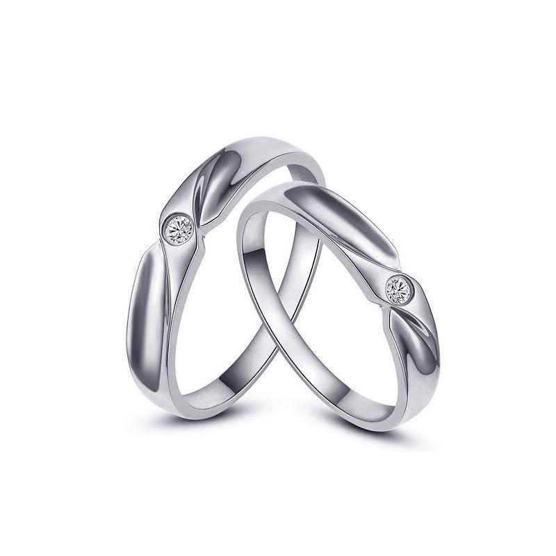 Alliance originale platine - Alliance Couple - Diamant