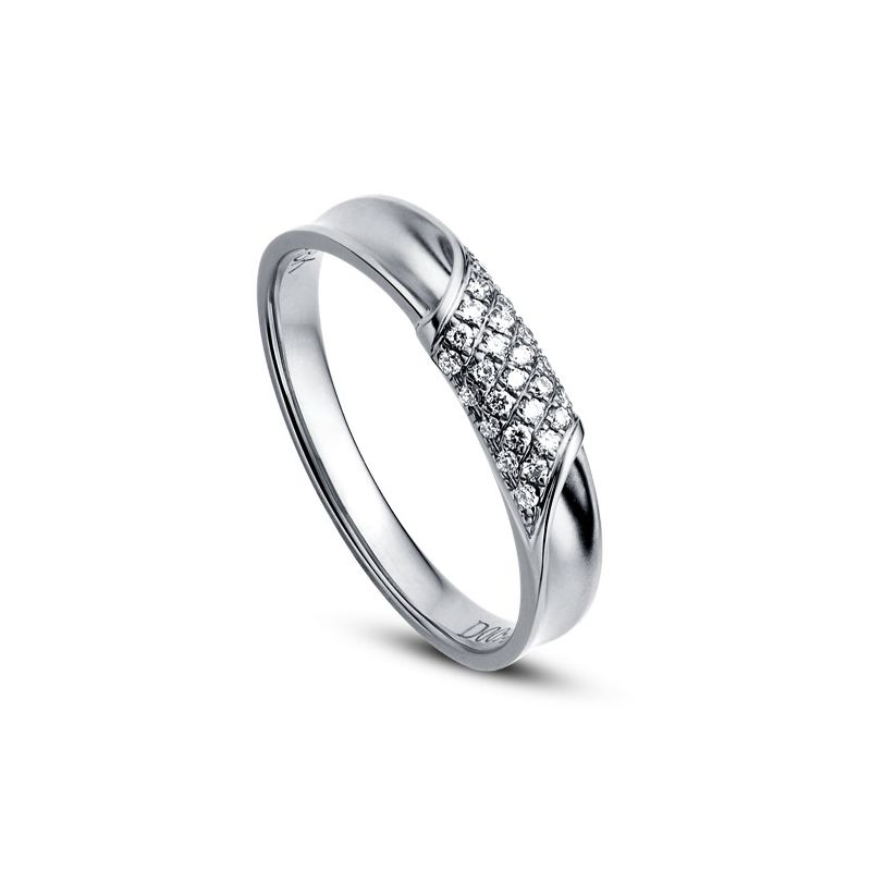 Alliance Femme - Or blanc - Diamants 0.105ct | Chloé