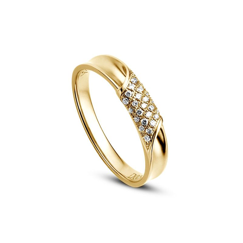 Alliance Femme. Or jaune. Diamants 0.105ct | Lucile