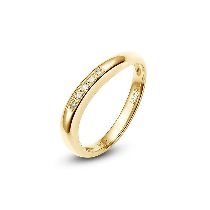 Alliance Femme. Or jaune. Diamants 0.040ct