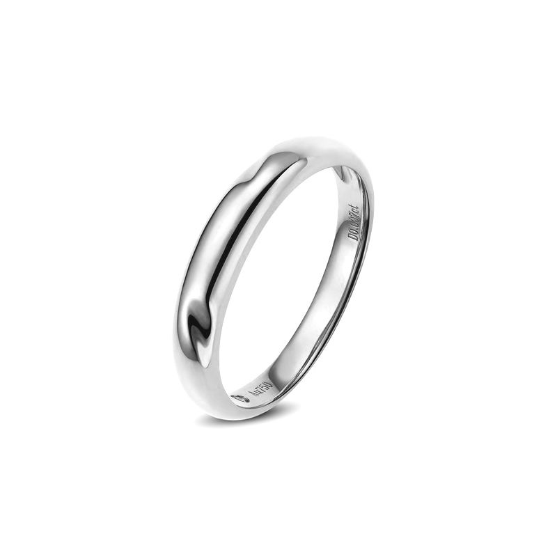 Alliance en or ronde - Alliance Femme Or blanc - Diamant
