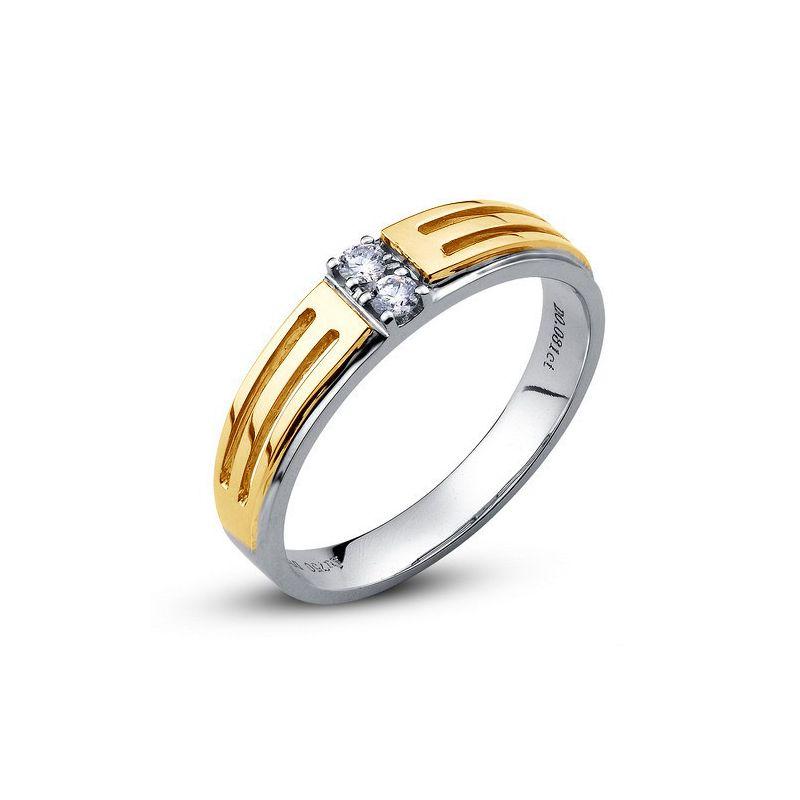 Bijouterie alliance mariage - Alliance Homme - Or blanc et jaune