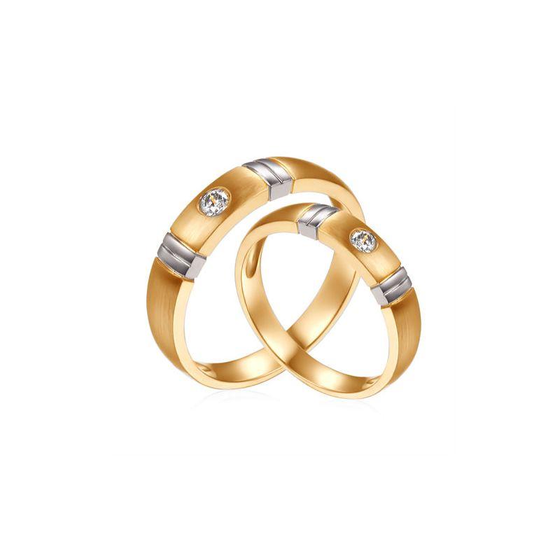 Alliances Couple. Diamants 0.130ct. 2 Ors | Garbo & Anderson