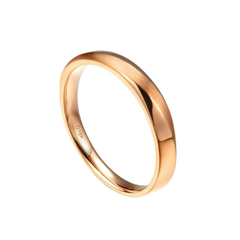 Alliance moderne Homme en Or rose et Diamant | Quinto