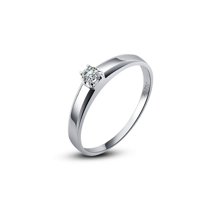 Alliance mariage originale - Alliance Homme - Or blanc - Diamant