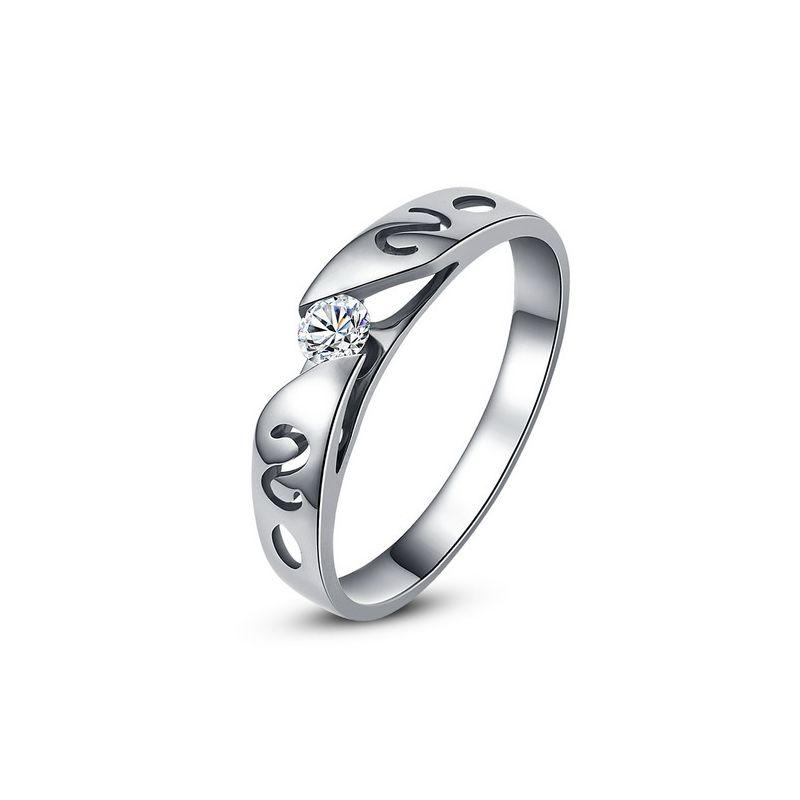 Mon alliance de mariage - Alliance originale platine, diamant - Homme