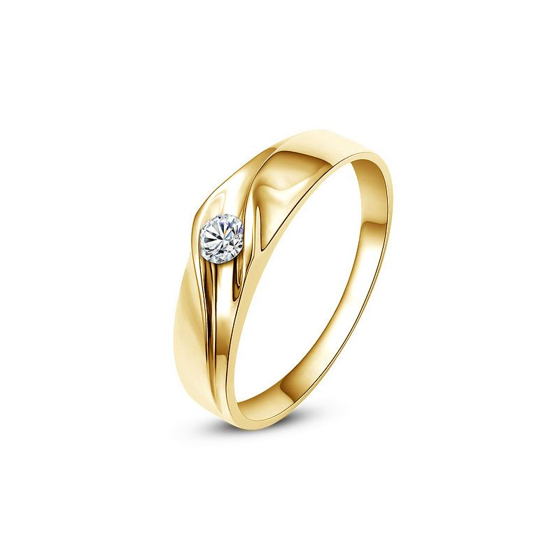 Alliance de fiançaille - Alliance or jaune pour Femme - Diamant