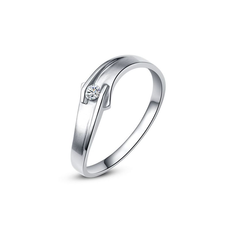 Alliance diamant or blanc - Le diamant de Colleen