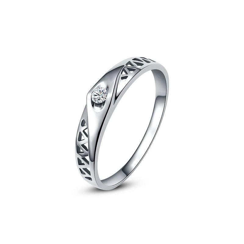 Alliance contemporaine -  Alliance Femme Platine - Diamant