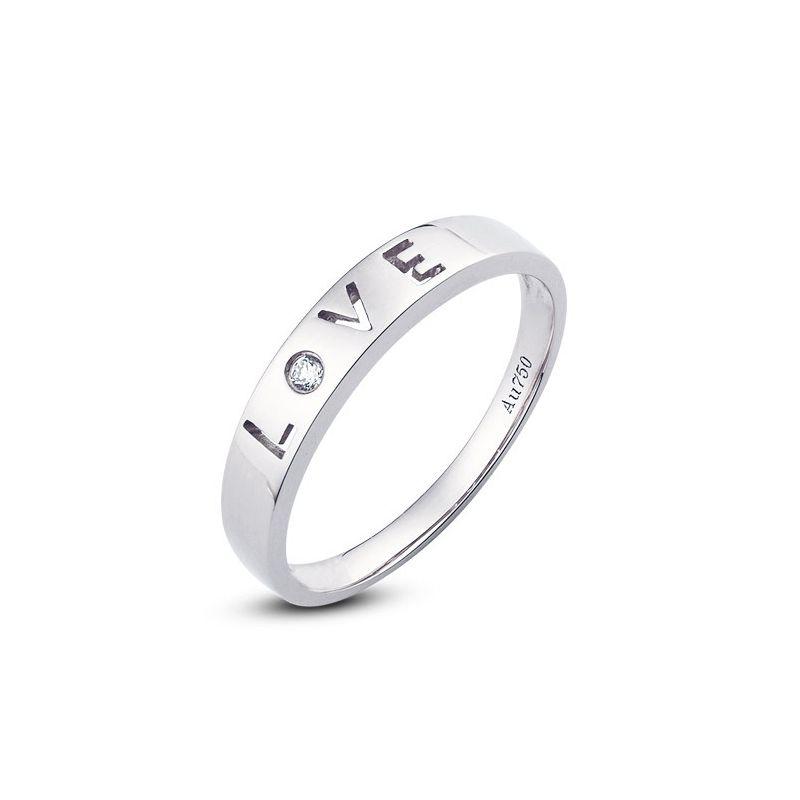 Alliance Love - Alliance homme platine - Diamant